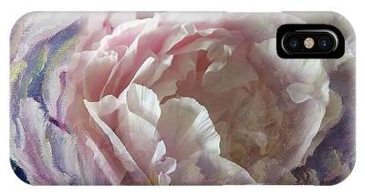 Peony -transparent Petals IPhone Case