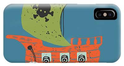 Schooner Digital Art iPhone Cases