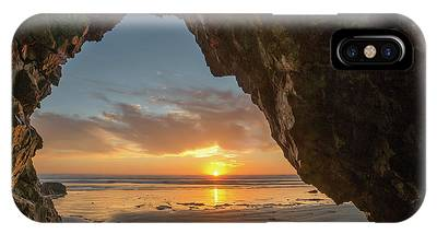 IPhone Case featuring the photograph Pismo Caves Sunset by Mike Long