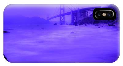 IPhone Case featuring the photograph Purple Golden Gate Fog by Mike Long