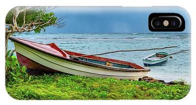 Rainy Fishing Day IPhone Case