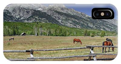 IPhone Case featuring the photograph Ranch Life by Ronnie and Frances Howard