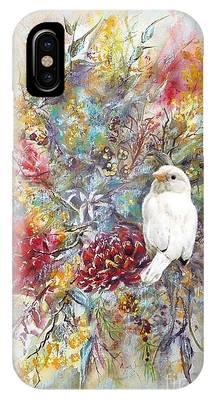 Rare White Sparrow - Portrait View. IPhone Case