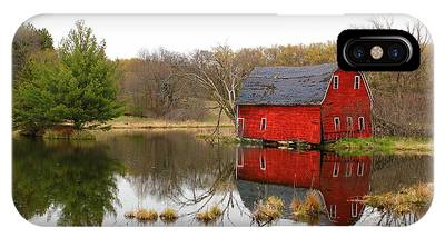 Red Barn Reflections IPhone Case