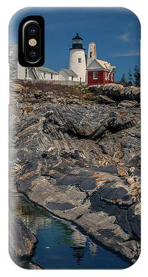 Reflecting On Pemaquid Light IPhone Case