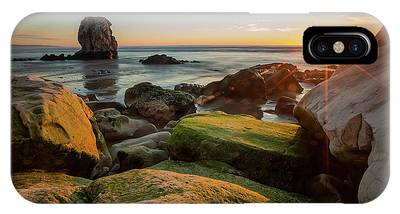 IPhone Case featuring the photograph Rocky Pismo Sunset by Mike Long