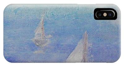 IPhone Case featuring the painting Sailing Subtly by Kim Nelson