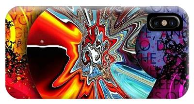 IPhone Case featuring the digital art Say Some Thing  by A z Mami