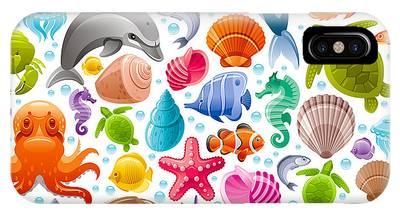 Reef Diving Digital Art iPhone Cases