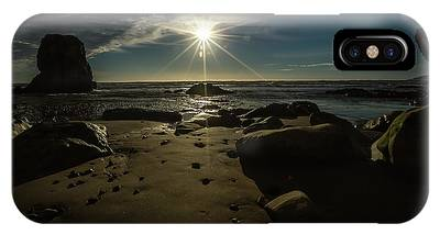 IPhone Case featuring the photograph Shell Beach Sunburst by Mike Long
