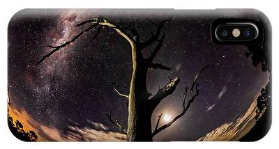 IPhone Case featuring the photograph Shooting Stars And Milky Way by Chris Cousins