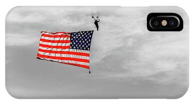 Socom Flag Jump In Selective Color IPhone Case