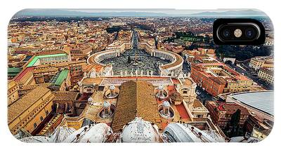 St Peter's Square From Top Of The Basilica IPhone Case