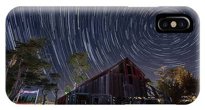 IPhone Case featuring the photograph Star Trails Over Bonetti Ranch by Mike Long