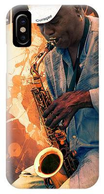 Street Sax Player IPhone Case