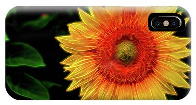 IPhone Case featuring the digital art Sunflower by Kevin McClish