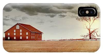 Sunset Barn IPhone Case