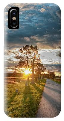 Sunset On The Field IPhone Case