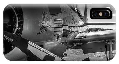 T-28b Trojan In Bw IPhone Case