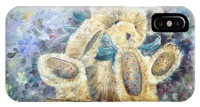 Teddy Bear In Basket IPhone Case
