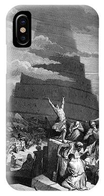 Tower Of Babel Gustave Dore Phone Cases