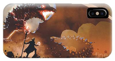 The Dragon Wizard IPhone Case