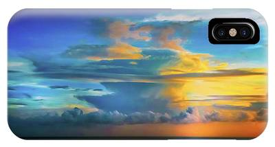 Thunder At Sun Set IPhone Case