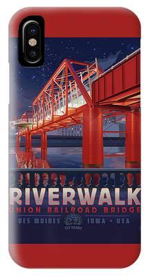 Union Railroad Bridge - Riverwalk IPhone Case