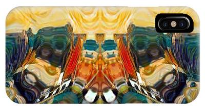 IPhone Case featuring the digital art Volcano by A zakaria Mami