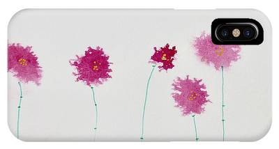 IPhone Case featuring the painting Yesterday's Petals by Kim Nelson