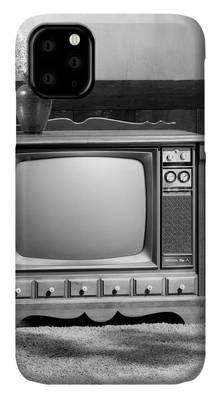 Black And White Tv Iphone Cases Fine Art America