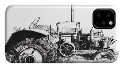 Tractor Pull Drawings iPhone Cases