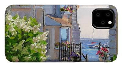 New England Coastline Paintings iPhone Cases