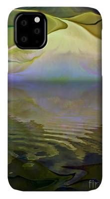 Rolling Waves Mixed Media iPhone Cases