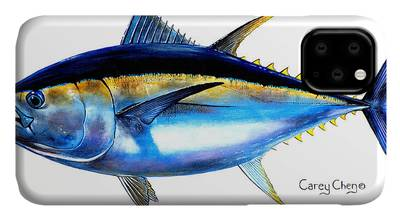 Bluefin Tuna Paintings iPhone Cases