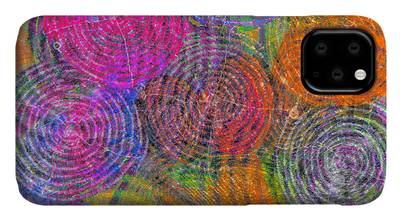 Brain Waves Mixed Media iPhone Cases