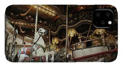 Antique Carousel Digital Art iPhone Cases