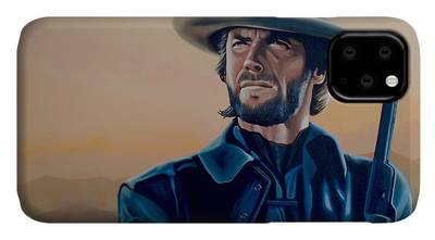 Clint Eastwood BW iphone case