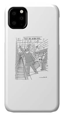 New York Taxi Drawings iPhone Cases