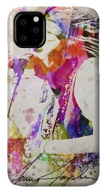 Blues Harp Digital Art iPhone Cases