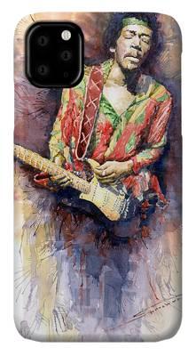 Rock Jimi Hendrix Music iPhone Cases