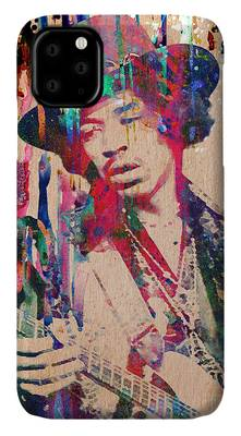 Rock N Roll Music Jimi Hendrix iPhone Cases
