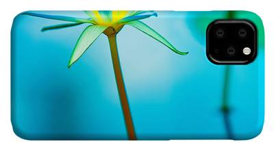 Waterlily koi in turquoise iPhone 11 case