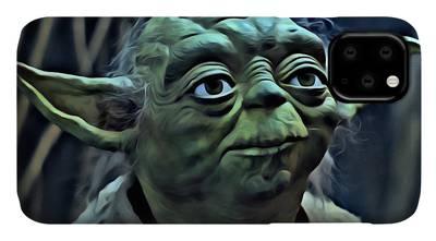 Yoda Star Wars Cave Black iphone case