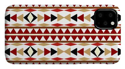 Native american seamless tribal pattern with geometric elements iPhone 11 case
