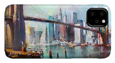New York Skyline Paintings iPhone Cases