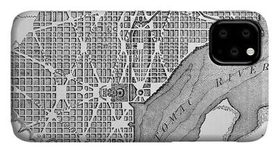 Columbia River Drawings iPhone Cases