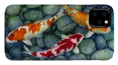 Koi Fish Pond iPhone Cases