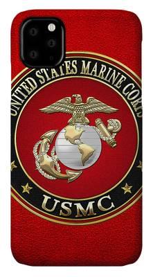 Military Insignia Digital Art iPhone Cases