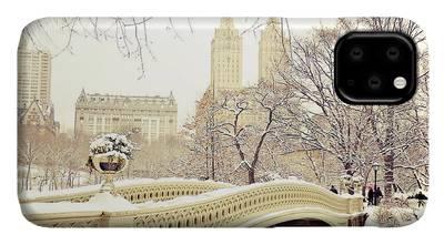 New York Snow Photographs iPhone Cases